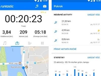 Android aplikace Runtastic