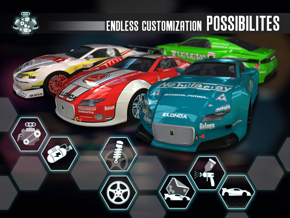 Hra na android - Namco Ridge Racer