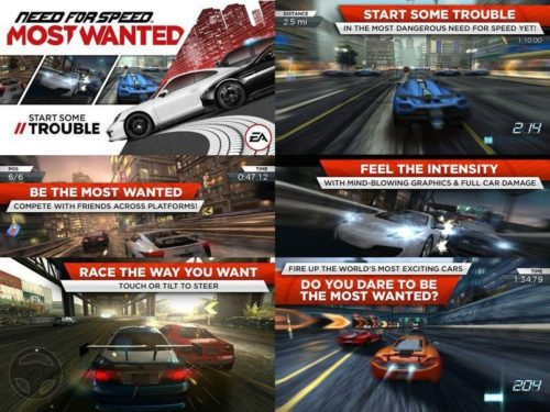 NFS Most Wanted 2012 na android