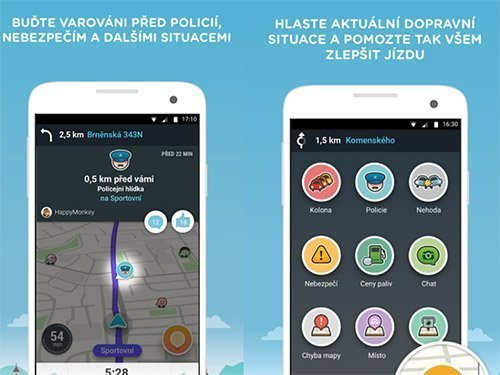 Waze app on Android