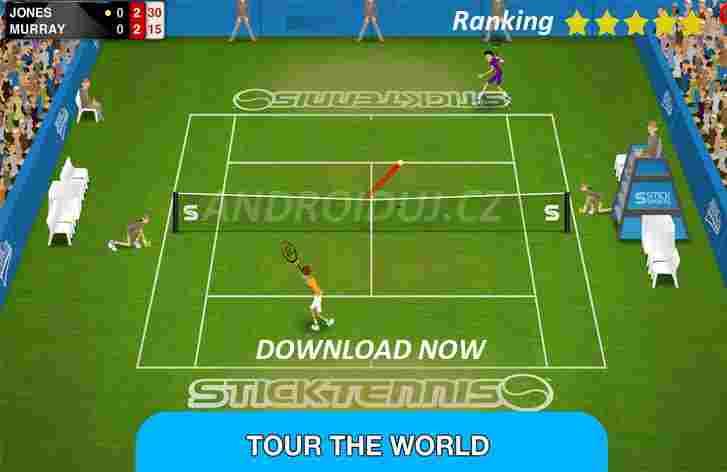 Stick Tennis Tour - android hra ke stažení