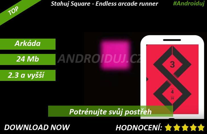 2 - Square - Endless arcade runner ke stažení Android hra