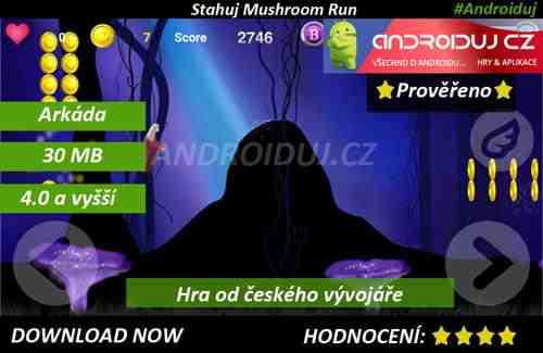 3 - Android hra Mushroom Run