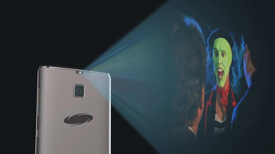 Projektor z Galaxy S8 Edge