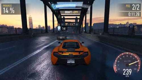 Need for speed: No Limit na Vulkan API