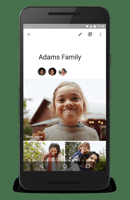 Sdílejte alba se svou rodinou. Pokaždé, když někdo z nich přidá fotku, tak dostanete upozornění