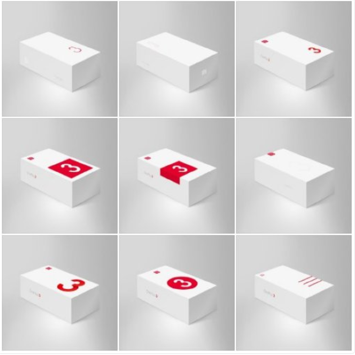 Jedná se o render krabic mobilního telefonu OnePlus 3's