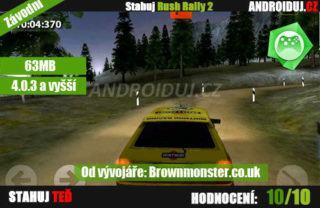 Rush Rally 2 - mobilní hra, tablet hra, hra na mobil