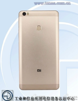 Xiaomi Mi Max zadní strana