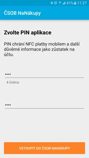 Zvolte si vlastní PIN aplikace