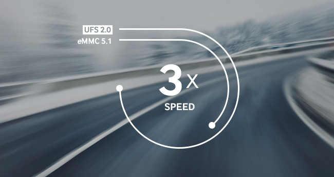 3x lepší rychlost než s eMMC 5.1