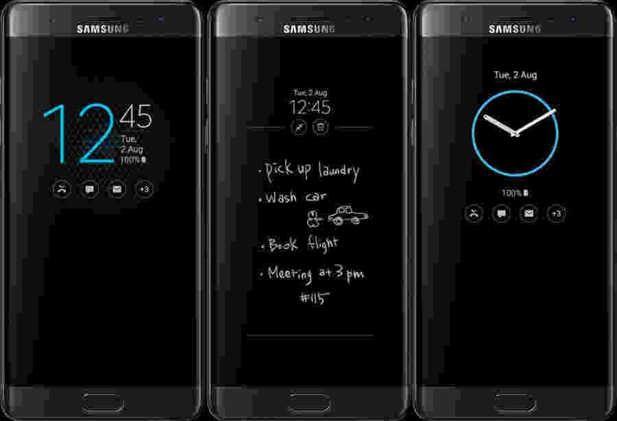 """Funkce """"Alway-On"""" v novém TouchWiz Note 7"""