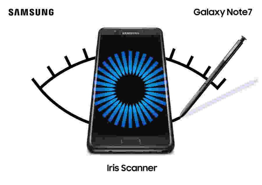 Samsung Galaxy Note 7 iris skener