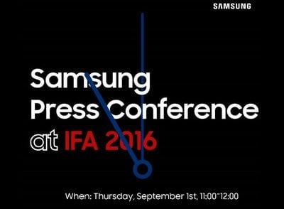 Samsung pozvánka na IFA 2016 v Berlíně
