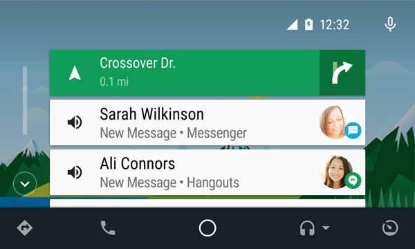 Řazení jednotlivých událost Android AUTO