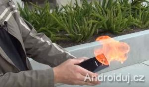 Samsung Galaxy Note 7 on fire