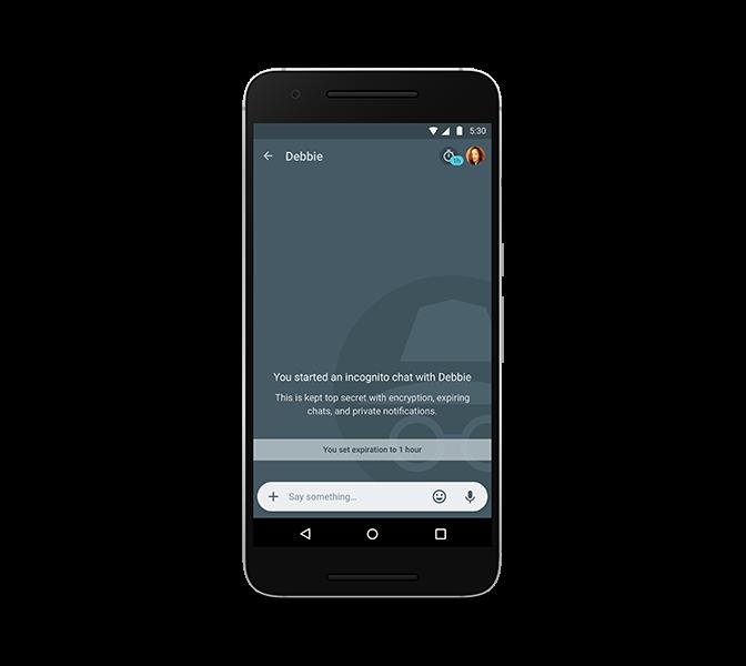 Google Allo - anonymní mód