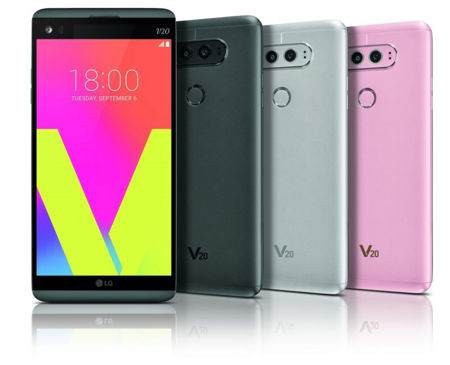 LG V20 tři různé barvy. Růžová se v USA nebude prodávat.