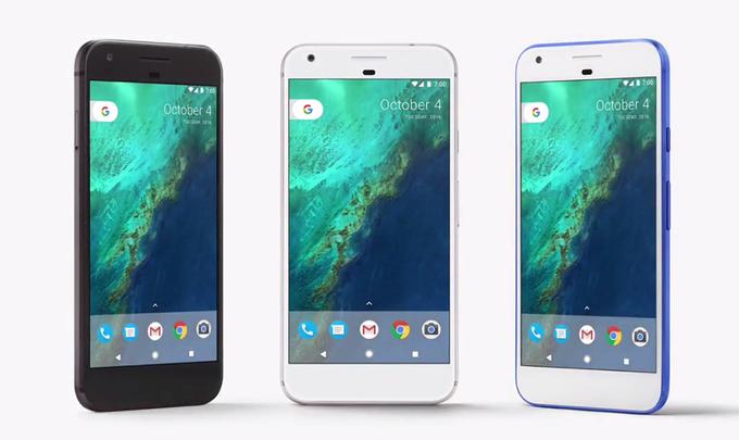 Google Pixel XL a Google Pixel