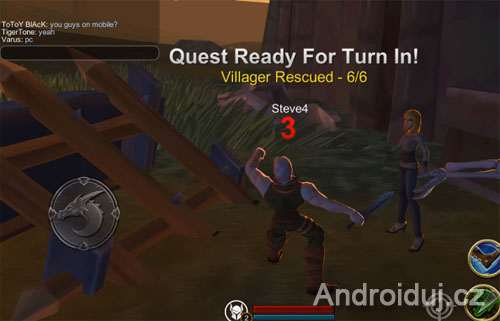 Adventure Quest 3D android hra ke stažení