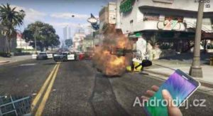 Telefon Galaxy Note 7 ve hře GTA V