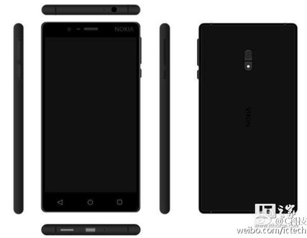 Nokia D1C v černé barvě