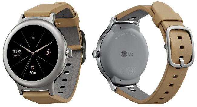 LG Watch Style ve stříbrné barvě