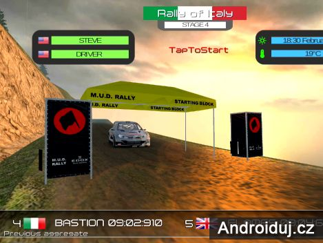 Hra na mobil M.U.D. Rally Racing