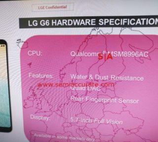 LG G6 a Snapdragon 821