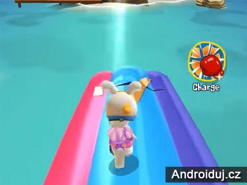 Rabbids Crazy Rush akční hra zdarma android