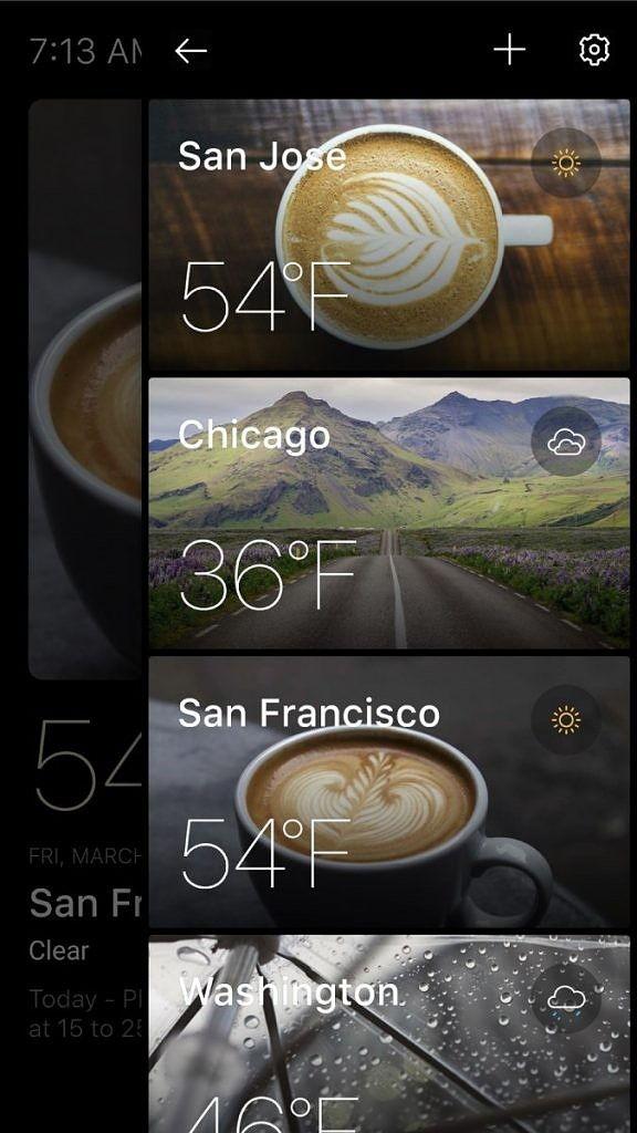 Rozložte si své města v kartách a sledujte počasí v každém z nich