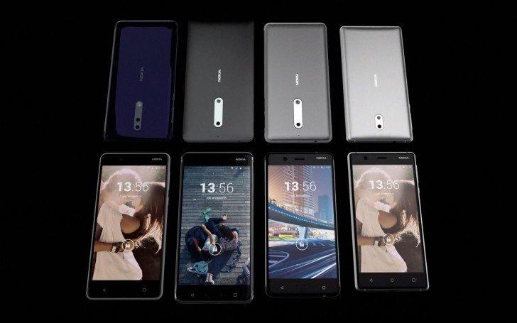 Nokia 3, Nokia5, Nokia 6 a Nokia 8