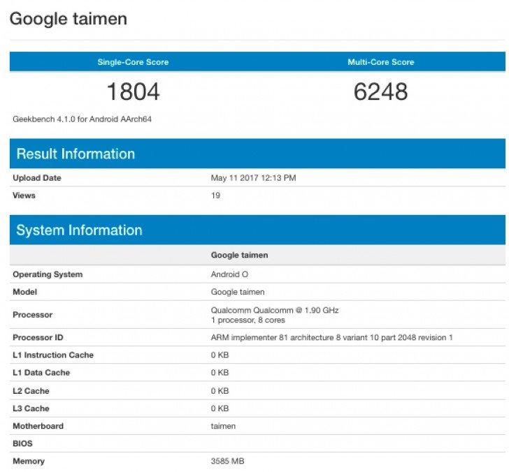 Specifikace Google Taimen