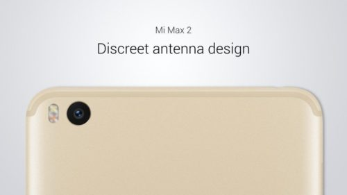 Xiaomi Mi Max 2 - hezký design
