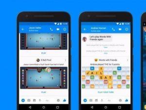Facebook Messenger a hry
