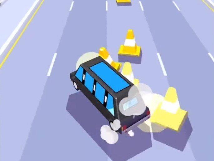 Android hra Dashy Crashy
