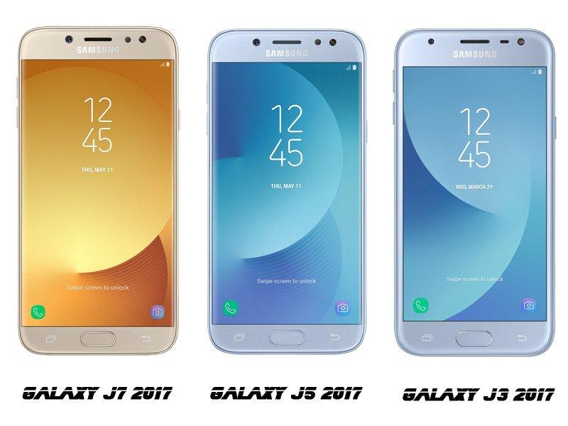 Samsung Galaxy J3, J5, J7