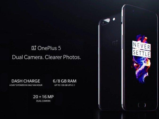 OnePlus 5 telefon