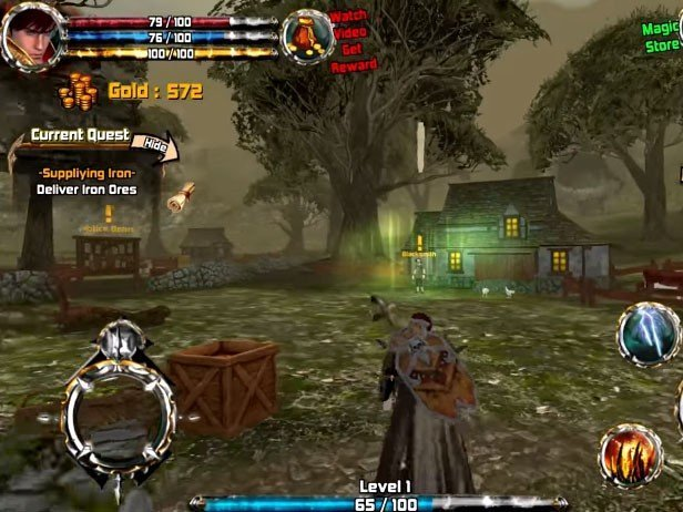 Crimson Warden: Clash of Kingdom Open World 3D RPG hra ke stažení