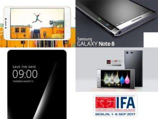 IFA 2017 oznámení chytrých telefonu Samsung, HTC, a další