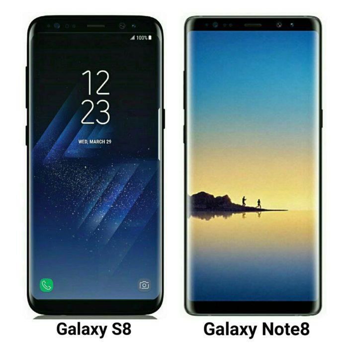 Galaxy S8 vs Galaxy Note 8