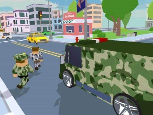 Blocky Army City Rush Racer ke stažení