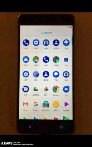 Uživatelské rozhránní menu Android Nokia 8
