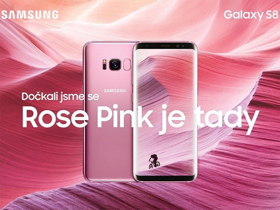 Samsung Galaxy S8 Růžová varianta