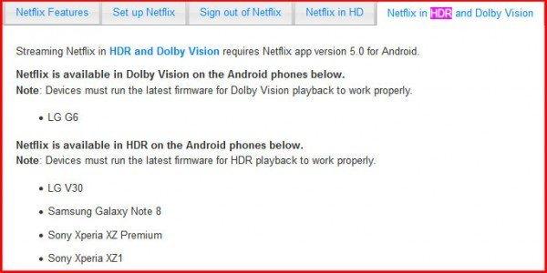 Netflix a HDR na telefonech