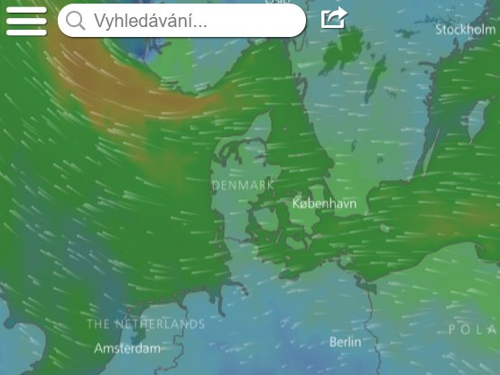 Aplikace windy.com