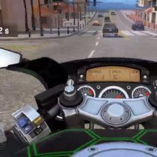 Hra Moto rider in traffic