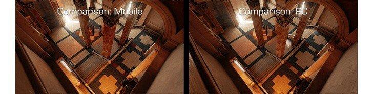 Qualcomm demoes Epic Unreal Engine 4: mobile vs. PC rendering