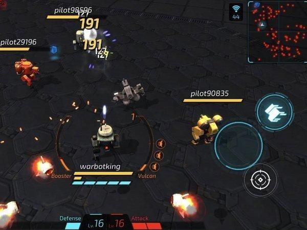 warbot.io android hra pro více hráčů