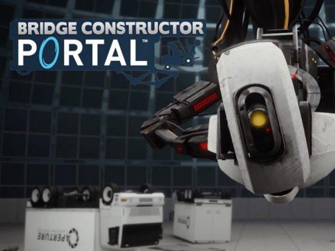 Bridge Constructor Portal hra na mobil
